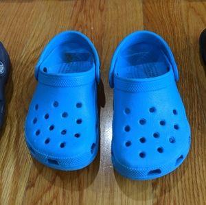 Baby boy crocs in light blue size 6/7